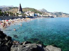 Giardini-Naxos beach in Sicily. This is where Grant visited his first beach for a couple of days. Beautiful Places In The World, Beautiful Places To Visit, Places In Europe, Places To Go, Messina Sicily, Sicily Travel, Sicily Italy, Southern Italy, Travel Memories
