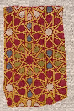 Dynastie Nasrid Tapisserie Soie| Grenade, Espagne | c. 8th-16th century
