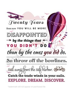 Awesome Travel Quote Printable Posters for by BespokeDigitalPrints, $5.00
