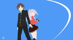 Yuu and Nao (Charlotte) Minimalist Wallpaper Anime by Lucifer012 ...