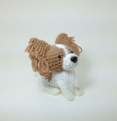 I just ordered this adorable toy!  It looks just like Phoebe!  Papillon Stuffed animal Amigurumi Dog Crochet Puppy by Inugurumi, $25.00