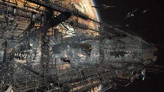 Advanced Space Station - Art by Josh Grafton, United Kingdom. Arte Sci Fi, Sci Fi Art, Fantasy Images, Sci Fi Fantasy, Space Station 3d, Dragon Nest, Sci Fi Environment, Fantasy Art Landscapes, Spaceship Concept