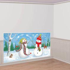 Amazon.com: Whimsical Snowman Scene Setter: Toys & Games