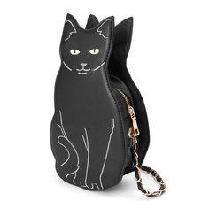 Cat Shaped Purse - Love Cat Design Cat Purse, Backpack Purse, Purse Crossbody, Novelty Bags, Novelty Handbags, Embroidery Purse, Cute Black Cats, Types Of Bag, Cat Design