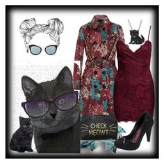 """""""Check Meowt"""" by bren-johnson ❤ liked on Polyvore featuring Burberry, New Look, Animal Planet, Melissa, Fendi and FabFunky"""