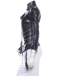 Balmain Leather Zipped Moto