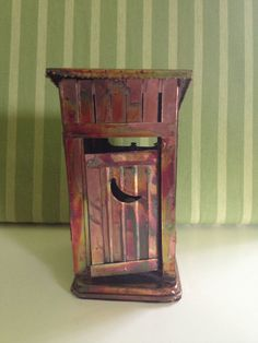 Copper Metal Outhouse Music Box by TheUpstairsAttic on Etsy, $22.00