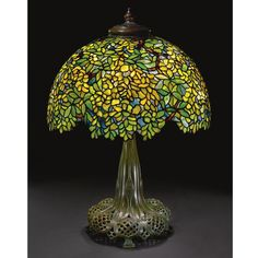 "Tiffany ""Laburnum"" Table Lamp."