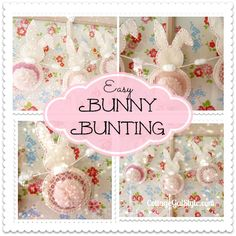 Easy & Pretty Bunny Bunting! - Cottage Gal Style