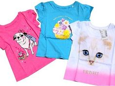 ♥ $10.50 OBO  More @salesfortoday ALSO CHECK OUT www.stores.ebay.com/jenscreationstx    Lot Toddler Girls Short Sleeve Graphic T Shirts -size 12-18 Months - 3 Pack