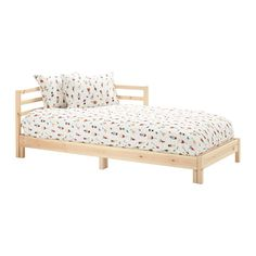 IKEA - TARVA, Daybed frame, , Two functions in one - chaise by day and bed by night.The backrest mounts on the right or the left side of the daybed.Untreated pine is a sustainable material with natural variations which gives every piece of furniture a unique look. With glazing paint, oil or paint, you can easily make the surface more durable – and your furniture more personal.