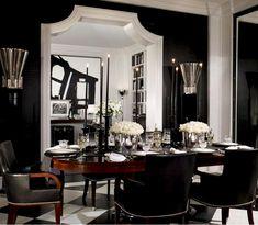 Ralph lauren black livingroom