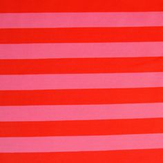 Red and Pink Stripe Nylon Lycra Swimsuit Fabric