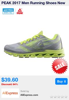 PEAK 2017 Men Running Shoes New Spring & summer Mens Sneakers Breathable Mesh Outdoor Sports Shoes for Men Green * Pub Date: 05:21 Jul 6 2017