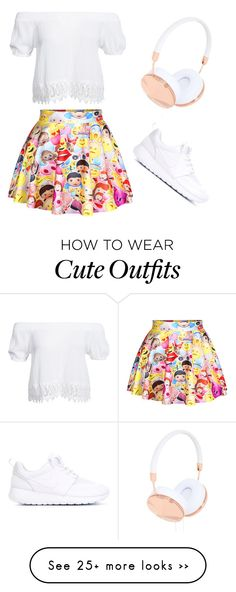 """Emoji inspired outfit"" by justthinqs on Polyvore featuring Boohoo, NIKE and Frends"