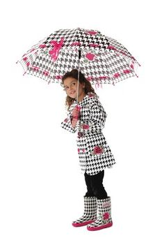 English Roses Rain Coat, boots, AND umbrella! Soo adorable!