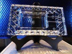 diamond crown Bristol crystal collection ashtray NIB