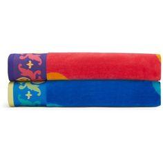Sky Freya Beach Towel - 100% Exclusive (£37) ❤ liked on Polyvore featuring home, bed & bath, bath, beach towels, freya blue and blue beach towel