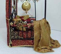 Dollhouse Miniature Steampunk Day Bed by Deb's Minis--The Amazing Solar Energized Time Preservation Napping Bed by debsminis, via Flickr
