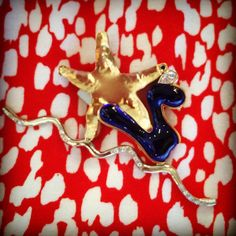 Red, white, blue, and art glass! Stop by the Eve J. Alfillé Gallery & Studio for your Independence Day accessories, like this patriotic 18k gold pin, to make sure the fireworks won't be the only thing sparkling this weekend: www.evejewelry.com