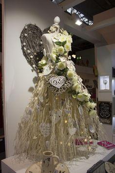 Spring Fair, Heaven Sent, Dress Form, Crown, Display, Christmas, Dresses, Fashion, Vestidos