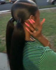 Ali Grace Hair Brazilian Straight Hair Bundles With Closure Virgin Human Hair 3 Bundles With Closure Two Ponytail Hairstyles, Hair Ponytail Styles, Slick Ponytail, Two Ponytails, Baddie Hairstyles, Black Women Hairstyles, School Hairstyles, Latina Hairstyles, Wedding Hairstyles