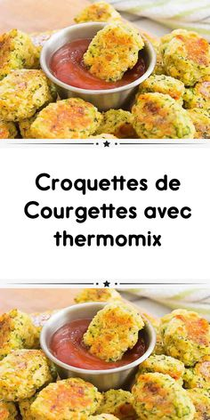 Croquettes de Courgettes avec thermomix - My CMS Healthy Meals For Kids, Healthy Meal Prep, Easy Healthy Recipes, Kids Meals, Healthy Snacks, Vegetarian Recipes, Vegetarian Wraps, Snacks Kids, Snacks Recipes