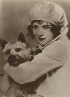Silent film star Marie Prevost and her terrier