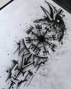 Simbols Tattoo, Tech Tattoo, Pagan Tattoo, Celtic Knot Tattoo, Norse Tattoo, Dark Tattoo, Viking Tattoo Sleeve, Viking Tattoos, Viking Tattoo Symbols