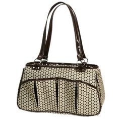 The Brooklyn Noir Dots Dog Carrier is trendsetting yet timeless. Trimmed with designer synthetics and fabrics. Animal Design, Dog Design, Brooklyn, Designer Dog Carriers, Dog Boutique, Dog Travel, Pet Carriers, I Love Dogs, Small Dogs