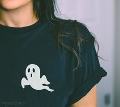 Halloween Ghost Shirt Halloween Unisex Shirt Halloween Gift Ghost T Shirt Halloween Fashion, Halloween Outfits, Fall Outfits, Cute Outfits, Halloween Clothes, Halloween Ghosts, Halloween Shirt, Halloween Door, Fall Shirts