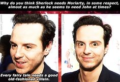 I'm about 5764235788% sure Moriarty plays Andrew Scott, not the other way around......> Most accurate point made to date.