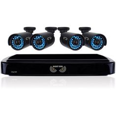 Night Owl HD 720p 4-Channel AHD Security System with 4 x 720p Cameras with 100' of Night Vision, Black