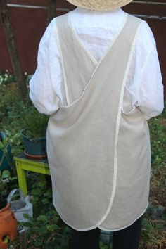 Linen Pocket Pinafore Apron by RetroHome on Etsy