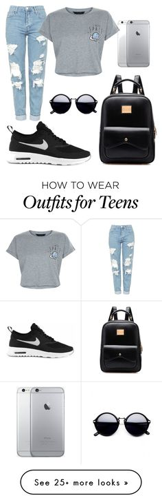 """""""Unbenannt #1"""" by dokeri on Polyvore featuring Topshop, New Look and NIKE"""