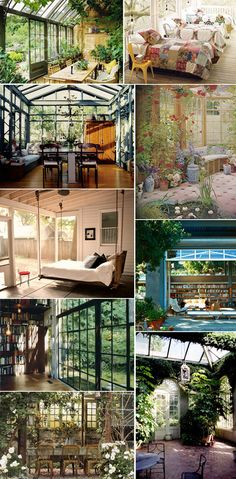 Inside Outside - conservatories, sleeping porches, & sunrooms