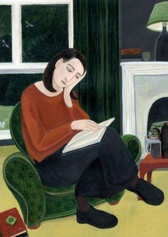 Dee Nickerson, The Book Lover, Fine Art Greeting Card Reading Art, Woman Reading, Instagram Story Ideas, Figurative Art, Funny Cute, The Book, Book Lovers, Illustrations Posters, Art Drawings