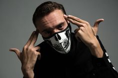 Defjam rapper Logic in the studio wearing iiJin FW15.
