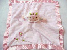 Douglas baby Claire Pink Stripe Lovey Blanket Doll Lil Snuggler Security #Douglas