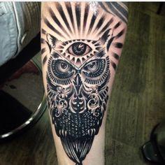 Tattoo ink owl
