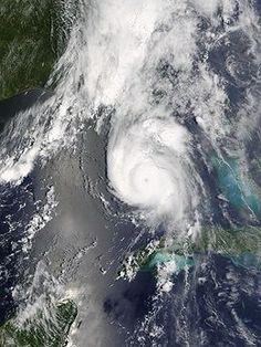 Hurricane Charley 13 August 2004; before it made landfall at Punta Gorda, FLorida.