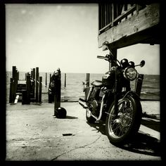 Day trips are fun, - a Triumph taking a coastal vacation.