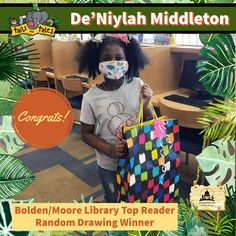 #SUMMERREADING PROGRAM HIGHLIGHT: Congratulations to De'Niylah Middleton, the Top Reader at Bolden/Moore Library! She won new books and a Google prize pack, and she won a random drawing for Funtime Skateland passes. Enjoy! 🥳 See who else has won at jhlibrary.org/srp21winners. #SummerReadingProgram #SRP #SRP2021 #TailsAndTales Summer Reading Program, Programming, New Books, Congratulations, Jackson, Drawings, Highlight, Random, Google