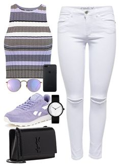 """""""Untitled #492"""" by victoriaam99 ❤ liked on Polyvore featuring Elizabeth and James, Reebok, Yves Saint Laurent and Ray-Ban"""