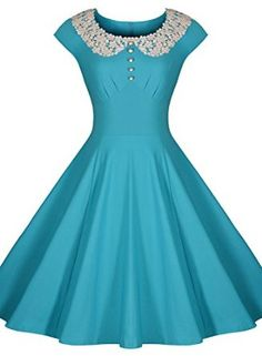 88f71db669f Miusol® Women s Classy Vintage Audrey Hepburn Style 1940 s Rockabilly  Evening Dress  Amazon Fashion Vintage