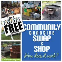 Would a curbside swap work in your town and how does it work? Swap Shop, Does It Work, Recycling Bins, Early Childhood Education, Learning Tools, Teaching Kids, Reuse, Planets, The Neighbourhood