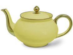 Limoges - Legle Pastel Yellow Teapot | Peter's of Kensington