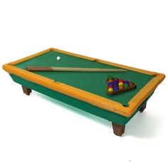 Pool Table by Jordan Maltais  #3dprinting #3dprinted #sports #billiards