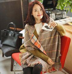 za Winter Brand Scarf Women 2016 Foulards Femme long Blanket Scarf Plaid Cashmere Scarf Women Pashmina Shawls and Scarves Wraps