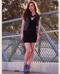 Shevahh looking tough and chic pairing our Twice Enticed dress with Lita's and a vest.